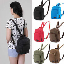 Convertible Canvas Mini Small Backpack Chest  Bag Sling Rucksack Travel Purse