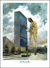 Prince of Peace Poster by Harry Anderson Jesus Knocking on UN Building BRAND NEW