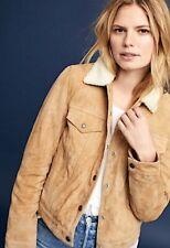 NWT $325 Levi's Women's Dijon Genuine Suede Sherpa Trucker Jacket S Small