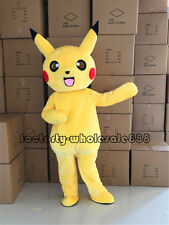 2018 Adult Pikachu Mascot Costume Party Pokemon Go Cosplay L size Cosplay Suit