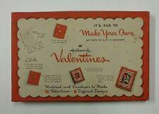 NOS Vintage 1950s Hallmark Make Your Own Valentine Cards Dimensional Cats Girls