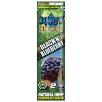 5x Packs Juicy Jay Black N Blueberry Wrap - ( 10 Wraps Total ) Natural Flavor