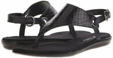 Aerosoles Womens Conchlusion Black Snake T-Strap Sandals. Choose Size.