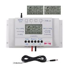 40A MPPT Solar LCD Battery Charge Controller Protection + Extension Cable US SH