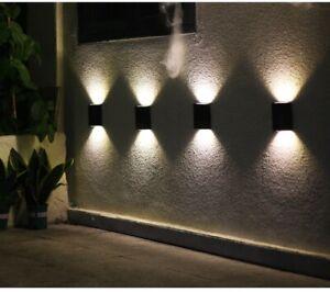 Solar Wall Lights Up & Down LED Lamp Decor Waterproof Garden Outdoor Fence Yard