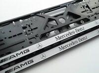 2X Mercedes Benz AMG EUROPEAN LICENSE NUMBER PLATE SURROUND FRAME HOLDER.