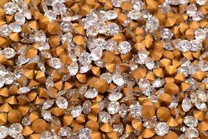 Vintage Machine Cut Crystal Glass Chatons Diamond Rhinestone Czechoslovakia 5 mm