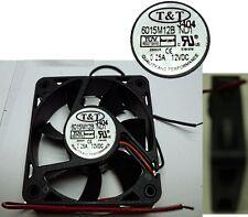 NEW Ball Bearing 60mm*15mm T&T 6015M12B-ND1 12VDC/12V/9V Fan/Cooler 2wire 6015
