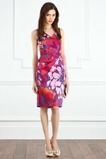 BNWT Coast Sasumi Pink Red Purple Size 8 Cocktail Dress RRP £95 Party Wedding
