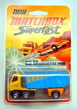 Matchbox SF Nr. 50B Articulated Truck gelb & blau frühe Version Blisterpack