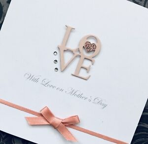 Personalised Handmade Birthday Card LOVE Wife Girlfriend Sister Daughter Niece