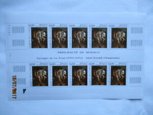 1993, Gemälde Georges De La Tour, Yvert 1910, postfrisch/MNH, Originalbogen