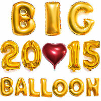 """40"""" Gold/Silver Big Foil Letter Number Balloons Wedding Birthday Party Decor"""