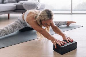 NEW Sealed Package Gray OAK & REED Yoga Block 9x6x3 Stretching Balance