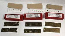 3x Mundharmonika Ersatz Stimmplatten Hohner MS 0,9 mm C, D, F - NEU / UNGESPIELT