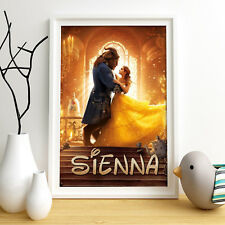 Beauty and the Beast personnalisé poster A4 Print Wall Art Livraison rapide ✔