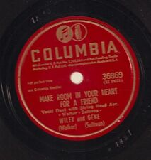 Wiley and Gene on 78 rpm Columbia 36869: Forgive Me/Make Room in Your Heart