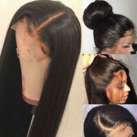 Real Malaysian Human Hair Full Lace Wigs Straight 360 Lace Front Wig Pre Plucked