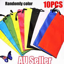 10X Sunglasses Eyeglasses Glasses Soft Cloth Drawstring Dust Pouch Carry Bags O