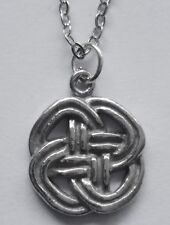 Chain Necklace #2360 Pewter CELTIC KNOT (16mm x 13mm)