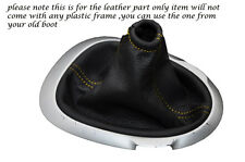 YELLOW STITCHING FITS NISSAN JUKE 2010-2013+ LEATHER GEAR GAITER ONLY
