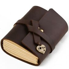 Ancicraft Mini Leather Journal with Retro Lovely Heart & I Love You Cute Gift
