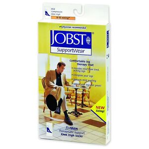 Jobst Mens Stocking 8-15 Compression - 2 pairs