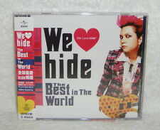 X Japan we love hide the Best in the World Taiwan 2-CD