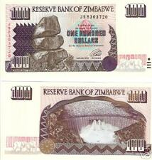 ZIMBABWE 100 Dollars Banknote World Paper Money UNC Currency Pick p-9 Elephant