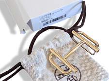 Hermes [49] Permabrass H ROYAL Belt Buckle 38 mm, New with Pouch and white Box!