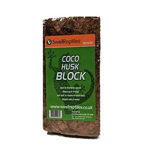 Swell Reptiles Natural Coconut Husk for Terrarium/Vivarium Substrates - 500g