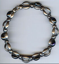 Napier GRAN Estilo Retro Vintage Grueso Plata Azul Cristal Cabujones Collar