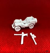 SAS JEEP w/ SPARE ON HOOD & REAR BRITISH ~ 3D PRINTED 1/72 1/87 1:100 1:200 *101