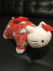 "Pillow Pets Sanrio Red Polka Dot Hello Kitty Stuffed Animal Plush Toy 16"""