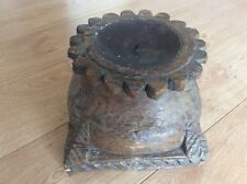 Huge Antique Wooden Temple Pilar Base turned into a Candle Holder