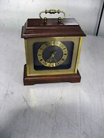 Used Hamilton Mantle Clock, Quartz, Made in Germany, 6.25 x 5.75 x 7, w/warranty
