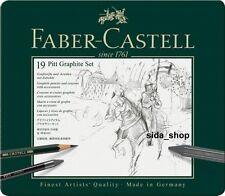 Faber-Castell Set PITT Graphite medium Metalletui 19-tlg. Bleistift Etui NEU&OVP