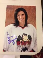 Manon Rheaume SIGNED 4x6 PHOTO Tampa Bay Lightning Autograph