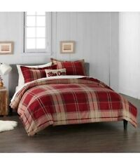 Cuddl Duds Red Plaid Live In Layers 4-Piece King Comforter Set