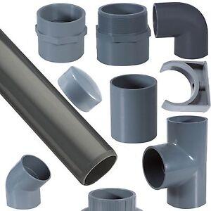 PVC Rohr 32 - 63 mm Verbinder Winkel Kniestück Muffe T-Stück Fitting Fittings