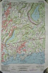 1984 Branford  CT Quadrangle USGS State of Ct Highway Dept. Topographic Map