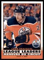 2020-21 UD O-Pee-Chee Retro League Leaders #583 Leon Draisaitl - Edmonton Oilers