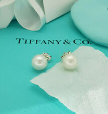 Tiffany & Co. Sterling Silver Ziegfeld Collection 8-9mm Pearl Earrings, RRP £310
