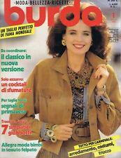 ▬►Magazine BURDA - Couture - COMPLET Avec patrons - Mode - Moda - Italien - 1990