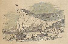 A3159 Capo dell'Armi - Veduta - Stampa Antica del 1887 - Incisione