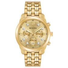 Bulova Men's 97D114 Classic Quartz Champagne Dial Gold Tone Bracelet 41mm Watch