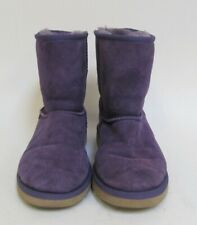 UGG Classic Short Suede Women's Purple Boots Size:5