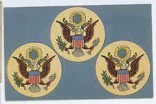 US American Seal E Pluribus Unum Patriotic Crest Bald EagleVintage Postcard