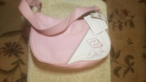 Womens Pink Wilson Leather Hand Bag Nascar Dale Jr
