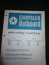 1975-1976 Chrysler Outboard 6 8 HP Parts Catalog Manual 62HG 63HG 82HG 83HG +